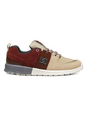 Кроссовки DC Shoes. Цвет: темно-бордовый