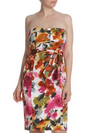 Платье с открытыми плечами без рукавов Aftershock. Цвет: fuchsia green