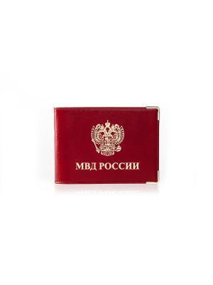 Обложка для документов, МВД красная Фаэтано. Цвет: красный