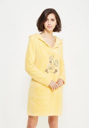 Платье домашнее Cleo. Цвет: желтый