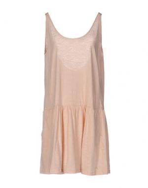 Короткое платье DES PETITS HAUTS. Цвет: песочный