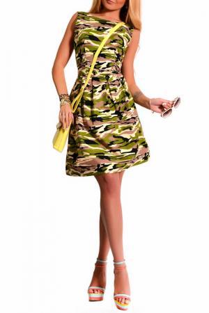 Платье LASKANY collezioni. Цвет: зеленый