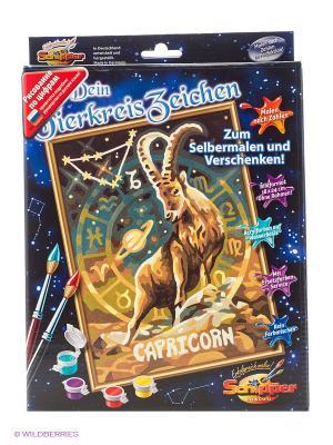 Знаки Зодиака Козерог, 18*24 см, Schipper. Цвет: зеленый, бежевый