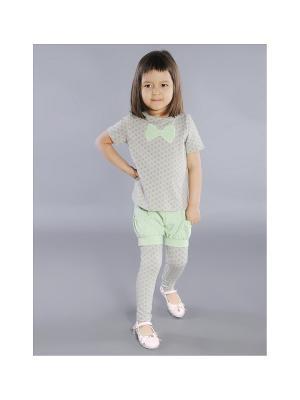 Шорты-брюки Fleur de Vie. Цвет: зеленый