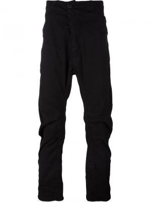 Узкие брюки с заниженным шаговым швом 11 By Boris Bidjan Saberi. Цвет: чёрный