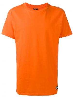 Футболка с графическим принтом на спине Les (Art)Ists. Цвет: жёлтый и оранжевый