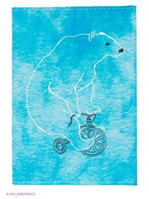 Обложка для паспорта Mitya Veselkov. Цвет: голубой