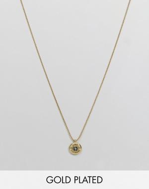 Love Bullets Ожерелье с позолотой 18 карат и подвеской-гильзой Lovebullets. Цвет: золотой