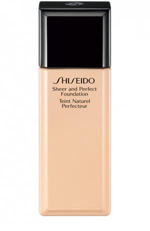 Тональное средство с полупрозрачной текстурой, оттенок B20 Shiseido. Цвет: бесцветный