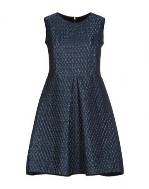 Короткое платье LA FABRIQUE. Цвет: грифельно-синий