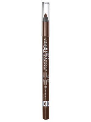 Стойкий карандаш для век Scandaleyes Kohl 003 тон brown Rimmel. Цвет: коричневый