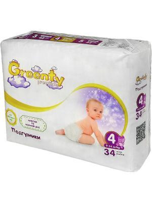 Одноразовые детские подгузники GREENTY 4 (9-14 кг) 34 шт.. Цвет: белый