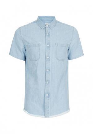 Рубашка джинсовая Topman. Цвет: голубой