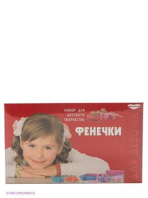 Набор для бисероплетения Фенечки GENIO KIDS. Цвет: красный