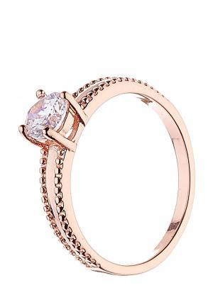 Кольцо Lebedi Crystals. Цвет: розовый
