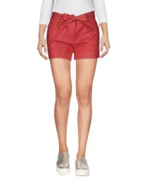 Джинсовые шорты BOUTIQUE MOSCHINO. Цвет: красный