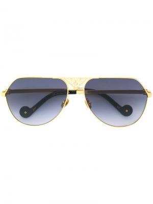Солнцезащитные очки-авиаторы  Art Deco Anna Karin Karlsson. Цвет: металлический