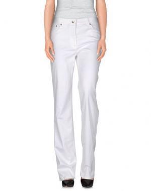 Повседневные брюки LAURA BIAGIOTTI. Цвет: белый