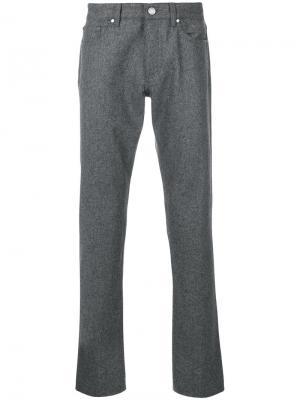 Классические брюки Ermenegildo Zegna. Цвет: серый