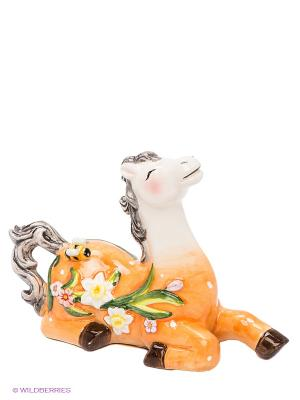 Фигурка Лошадь Муза Pavone. Цвет: оранжевый, белый, зеленый