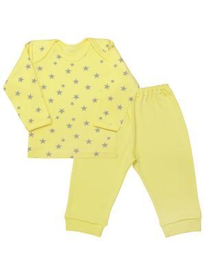 Пижама Веселый малыш. Цвет: светло-серый, желтый