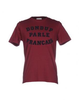 Футболка DONDUP. Цвет: красно-коричневый