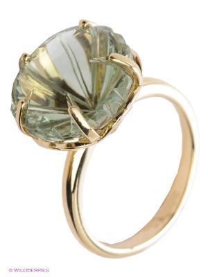 Кольцо ЭСТЕТ. Цвет: зеленый, золотистый