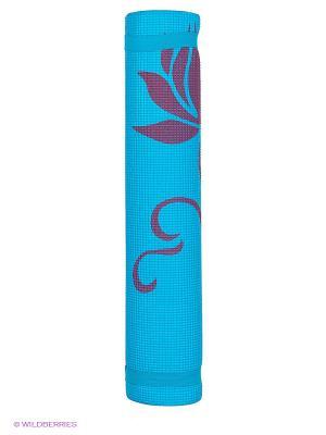 Коврик для фитнеса и йоги Alonsa. Цвет: голубой