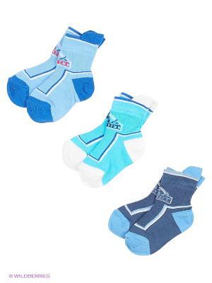 Носки - 3 пары Гамма. Цвет: синий, бирюзовый, голубой