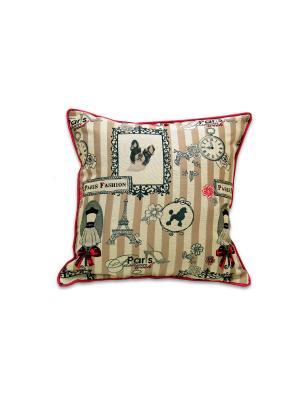 Декоративная подушка Париж РЮШАЛЬ. Цвет: розовый