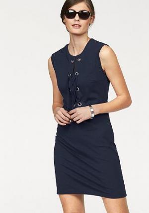 Платье-футляр BRUNO BANANI. Цвет: темно-синий