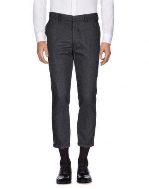 Повседневные брюки THE EDITOR. Цвет: свинцово-серый