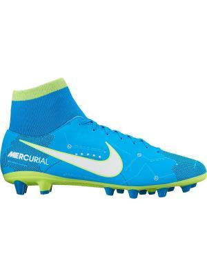 Бутсы MERCURIAL VCTRY 6 DF NJR AGPRO Nike. Цвет: синий, белый