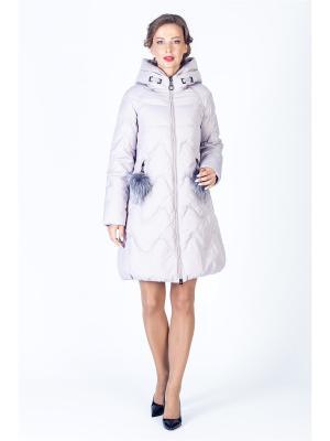 Пальто FREYA. Цвет: бледно-розовый