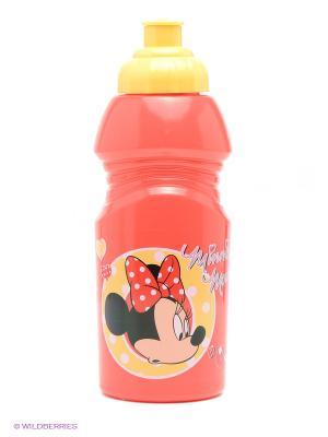 Бутылка спортивная малая Минни Trudeau. Цвет: красный, светло-желтый