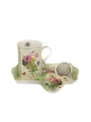 Набор для чаепития Nuova R2S. Цвет: белый, зеленый