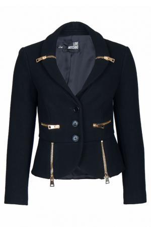 Пиджак Moschino Love. Цвет: черный