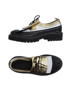 Обувь на шнурках LEQARANT. Цвет: черный