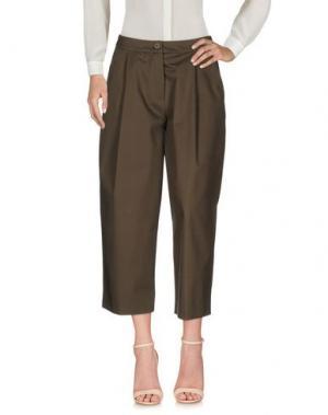 Повседневные брюки CENTOQUATTRO. Цвет: зеленый-милитари