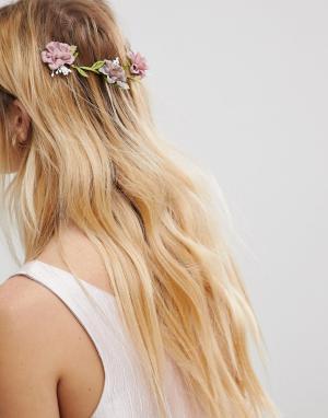 ASOS Заколка для волос с цветочной отделкой Occasion. Цвет: мульти