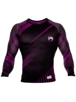 Рашгард Venum Rapid Black/Purple L/S. Цвет: черный, темно-фиолетовый