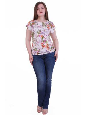 Блузка Regina Style. Цвет: оливковый, кремовый, оранжевый