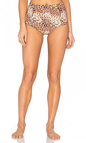 Двусторонние супер бикини плавки SOFIA by ViX. Цвет: коричневый