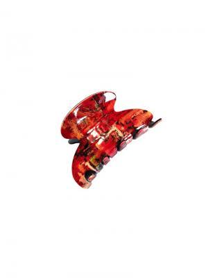 Заколка-краб la France. Цвет: черный, красный, светло-бежевый