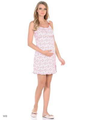 Сорочка женская для беременных и кормящих Hunny Mammy. Цвет: белый, красный