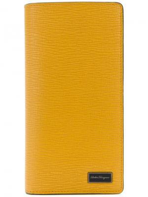 Кошелек с логотипом Salvatore Ferragamo. Цвет: жёлтый и оранжевый