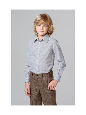 Рубашка MORU. Цвет: серый, голубой
