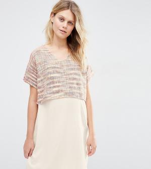 ASOS Maternity Цельнокройное платье для беременных и кормящих из фактурной ткани. Цвет: мульти