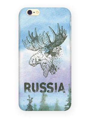 Чехол для IPhone 6 Лось Mitya Veselkov. Цвет: голубой, белый