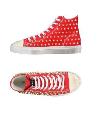 Высокие кеды и кроссовки METAL GIENCHI. Цвет: красный